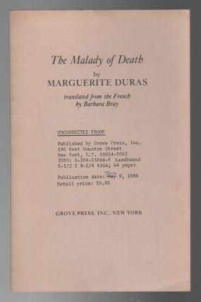 THE MALADY OF DEATH. Marguerite DURAS