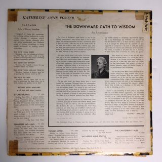 THE DOWNWARD PATH TO WISDOM: Complete Short Story [LP Recording]