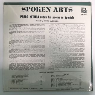 SELECTED POEMS / READ BY THE POET IN SPANISH