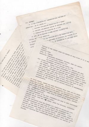 [Process Archive of Assassination Research Materials for an Unpublished Spy Novel]