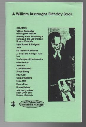 A WILLIAM BURROUGHS BIRTHDAY BOOK