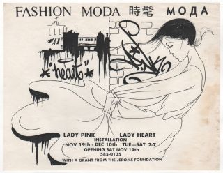 FASHION MODA LADY PINK / LADY HEART INSTALLATION [Flyer
