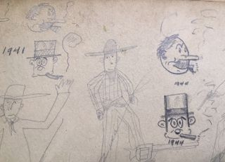 Child's Cartooning Album]. Paul Kenton CONRAD, Compiler Artist