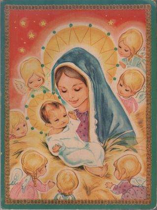 VINTAGE ADVENT CALENDAR ( Nativity Scene Pop-up ). Anonymous