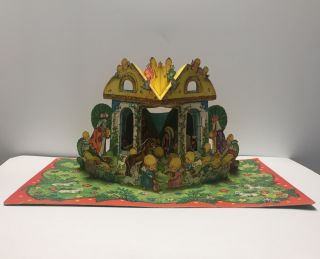 VINTAGE ADVENT CALENDAR ( Nativity Scene Pop-up )